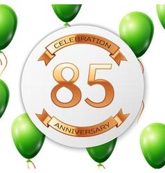 Golden number eighty five years anniversary vector