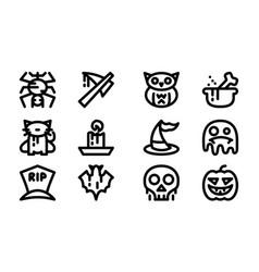halloween celebration icon template vector image