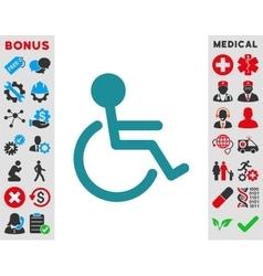 Handicapped Icon vector