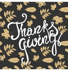 Happy Thanksgiving day holiday background vector image