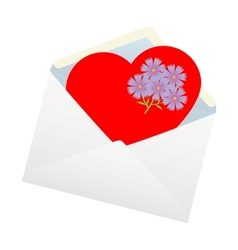 Heart in the envelope vector image