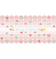 Hello Spring card or invitation vector image