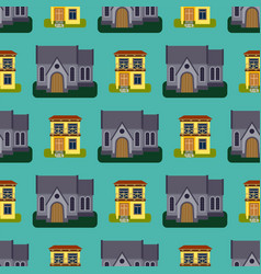 Historical city modern world seamless pattern vector