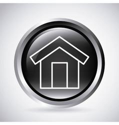 House button Silhouette icon design vector