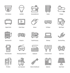 Household and electronic appliances line vector