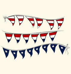 Independence day pennant banners vector
