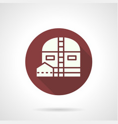 Industrial storage barn round icon vector