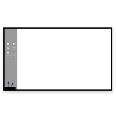 Interactive board vector image