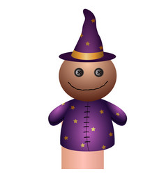 Isolated wizard puppet vector