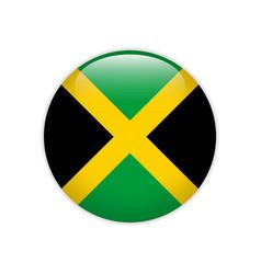Jamaica flag on button vector