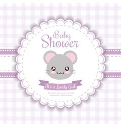 Kawaii mouse baby shower design graphic vector