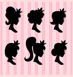 little princesses portrait young girl vector image
