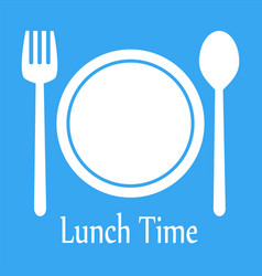 lunch time design menu icon flat editable vector image