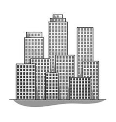 Metropolisrealtor single icon in monochrome style vector