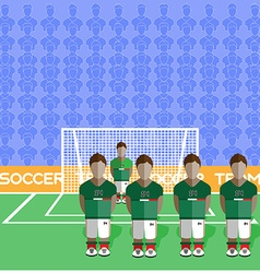 Mexico Soccer Club Penalty on a Stadium vector