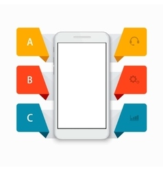 modern smartphone infographics background vector image