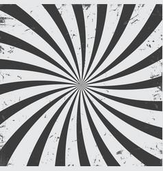 monochrome radial rays grunge background vector image