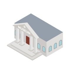 Museum icon isometric 3d style vector image