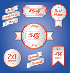 offer sale price discount promotion vector image
