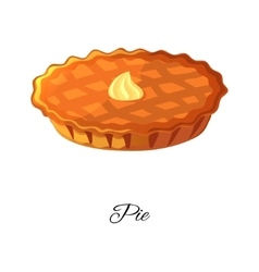 Pie icon Apple pumpkin berries pie With cream vector image
