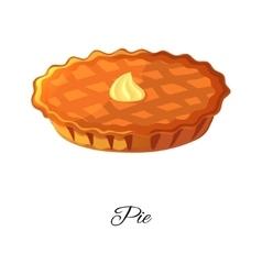 Pie icon Apple pumpkin berries pie With cream vector