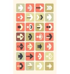 plain arrow icons Eps10 vector image
