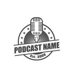 podcast logo design element vector image