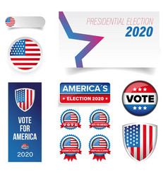 presidential election vote badge set vector image