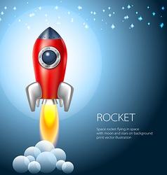 Rocket icon space fire symbol flame cartoon vector