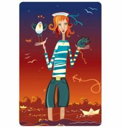 sailor girl vector image