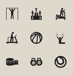 Set of 9 editable healthy icons includes symbols vector