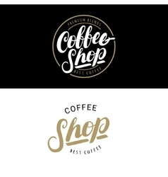 Set of Coffee Shop logos badges or labels banner vector image