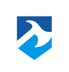 Shield and axe logo icon design template elements vector
