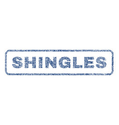 Shingles textile stamp vector