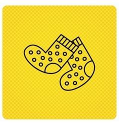 Socks icon Baby underwear sign vector image