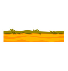 soil ground layers with grass on sand vector image