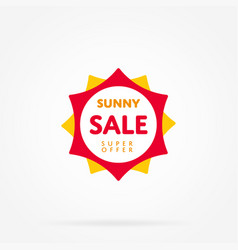 Special offer sale tag like as sun vector