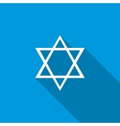 Star of David icon flat style vector