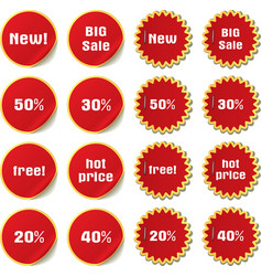stickers and labels vector image