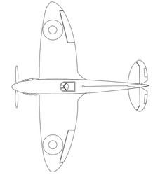Supermarine spitfire ii full top vector