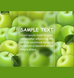 template for design with frame for text vector image