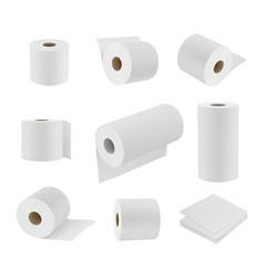 toilet paper realistic hygiene symbols soft towel vector image