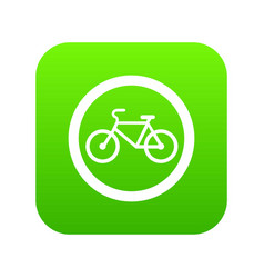 travel by bicycle is prohibited traffic sign icon vector image