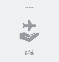 travel services - minimal modern icon vector image