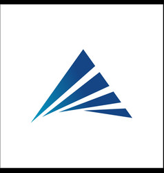 triangle logo abstract vector image