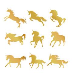 Unicorns horse cute dream fantasy vector