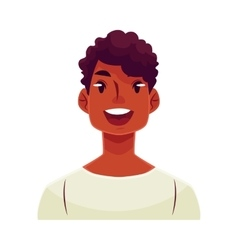 Young african man face wow facial expression vector