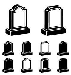 3d tombstone black symbol vector image