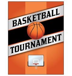 Basketball Tournament Flyer Poster vector image vector image