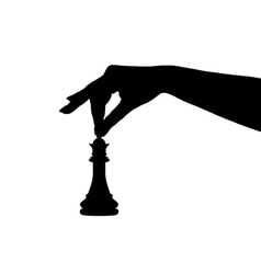 chess piece silhouette vector image